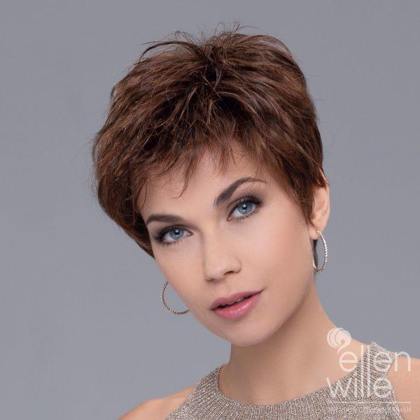 Peruca cu par scurt monofilament partial, nedetectabila, model Bravo de la Ellen Wille